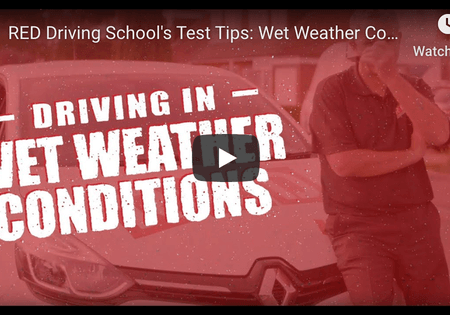 driving in wet weather conditions