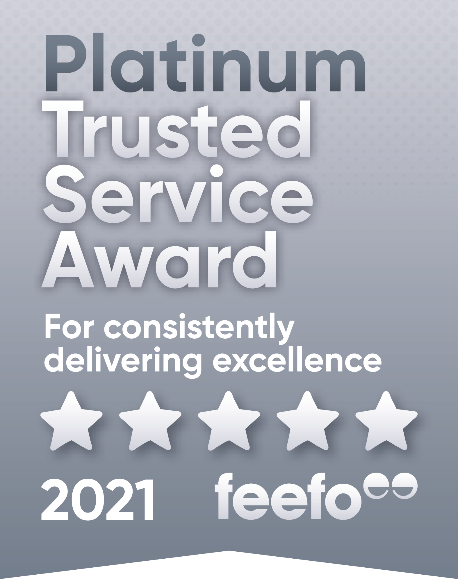 platinum feefo award badge