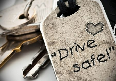 Drive safe key ring
