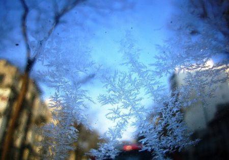 Icy snowflakes