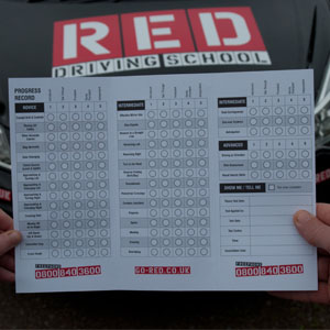 RED driving test form