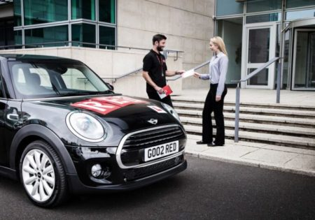 Black RED mini with man and woman