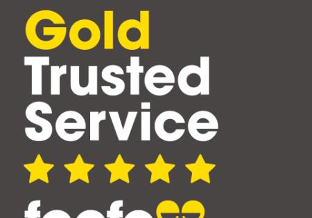 feefo gold award badge