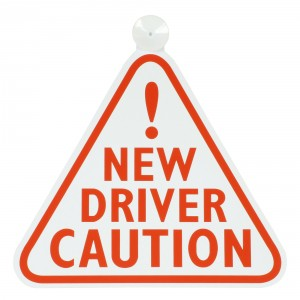New Driver caution sign