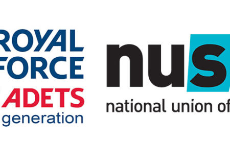 Royal Air Force Air Cadets and NUS logos
