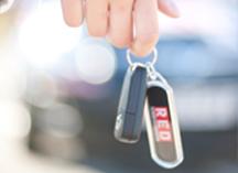 red car keys