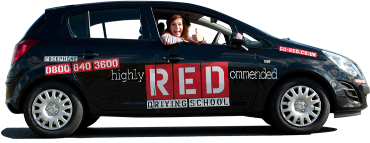 RED Driving School student car