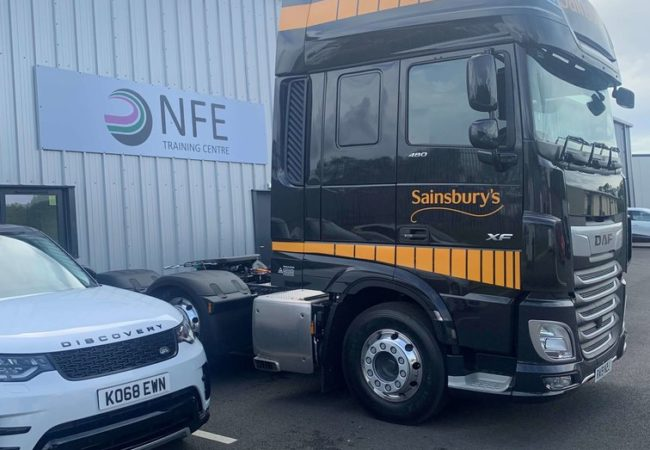 Lorry at NFE CPC Driver Training facility