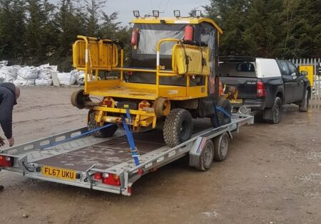 loading a trailer