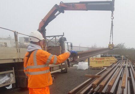 man using a crane
